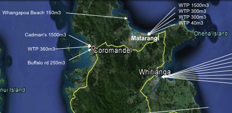 Click on The Coromandel link below to view the full sized map