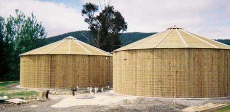 Water storage tanks at Milton Prison