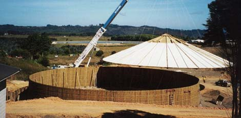 3000m³ Timbertank constructed for potable water storage in Whitianga